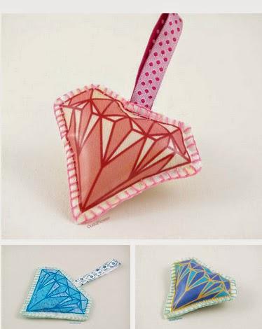Diamant broche et porte clés par CocoFlower - www.cocoflower.net