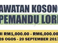 Jawatan Kosong Terkini Sebagai Pemandu Lori - Minima SPM / Gaji RM1,000 - RM6,000