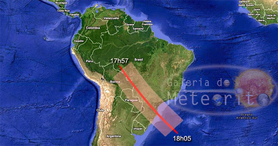 visibilidade da nave espacial russa no Brasil