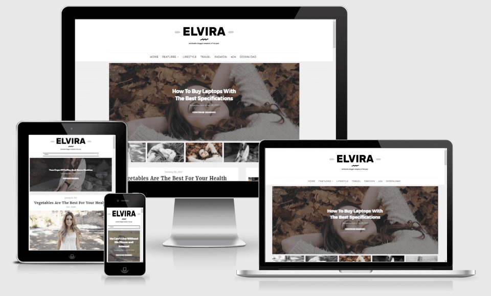 Elvira - Responsive Beauty Blogger Template