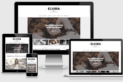 Elvira Responsive Beauty Blogger Template Free Download