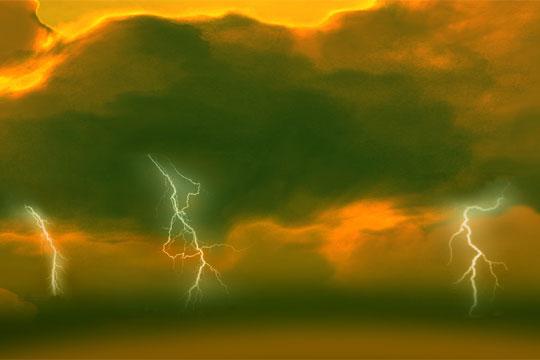Una tormenta eléctrica podría ser la causa