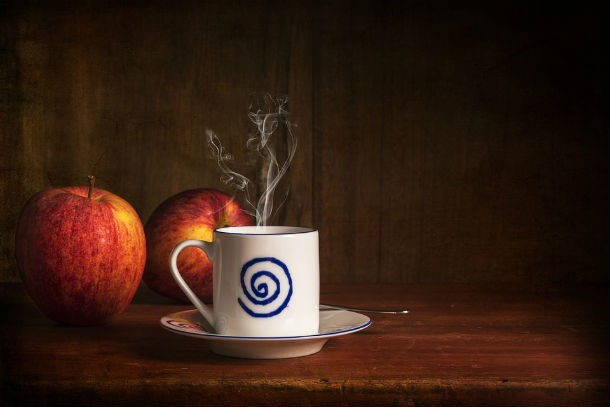 Apel dan kopi