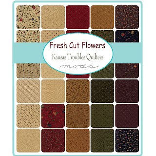 Moda Fresh Cut Flowers Fabric by Kansas Troubles Quilters for Moda Fabrics