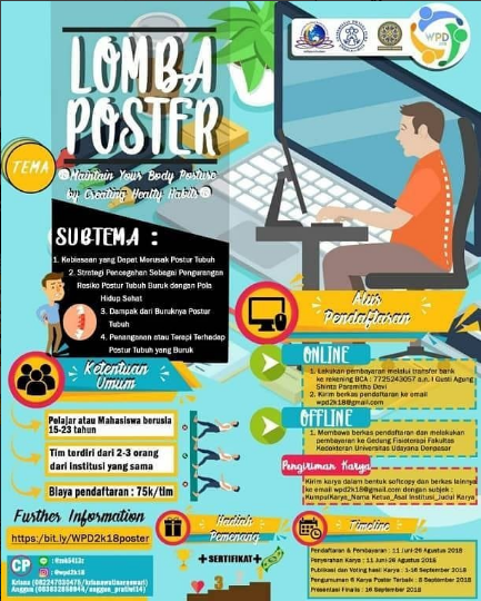 Lomba Poster Pelajar/Mahasiswa World Physiotheraphy Day 2018 di Univ. Udayana