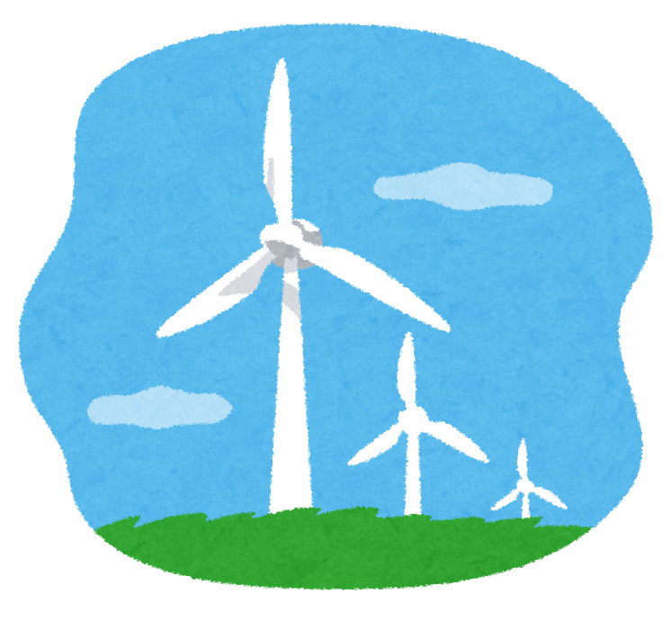 風力発電所のイラスト かわいいフリー素材集 いらすとや