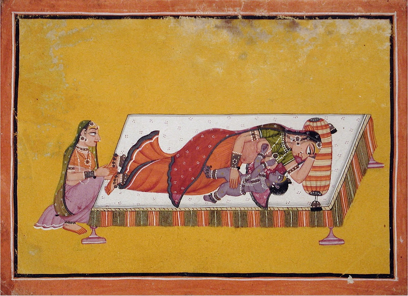 Yashoda Suckling the Infant Krishna - 18th Century