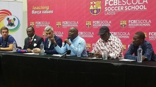 4e2789ac2ca FC Barcelona of Spain named their Football Academy in Nigeria FC Bescola  International Football School. The academy is temporarily located at the  Teslim ...