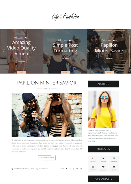 Fashion Responsive Blogger Template