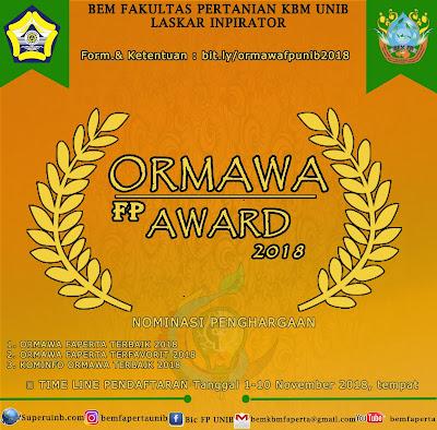 ORMAWA FAPERTA AWARD 2018