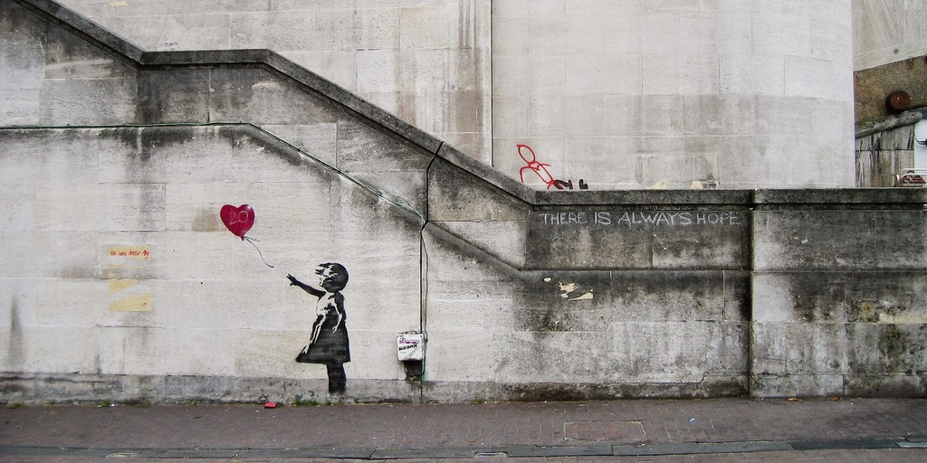 Banksy Girl and Heart Balloon