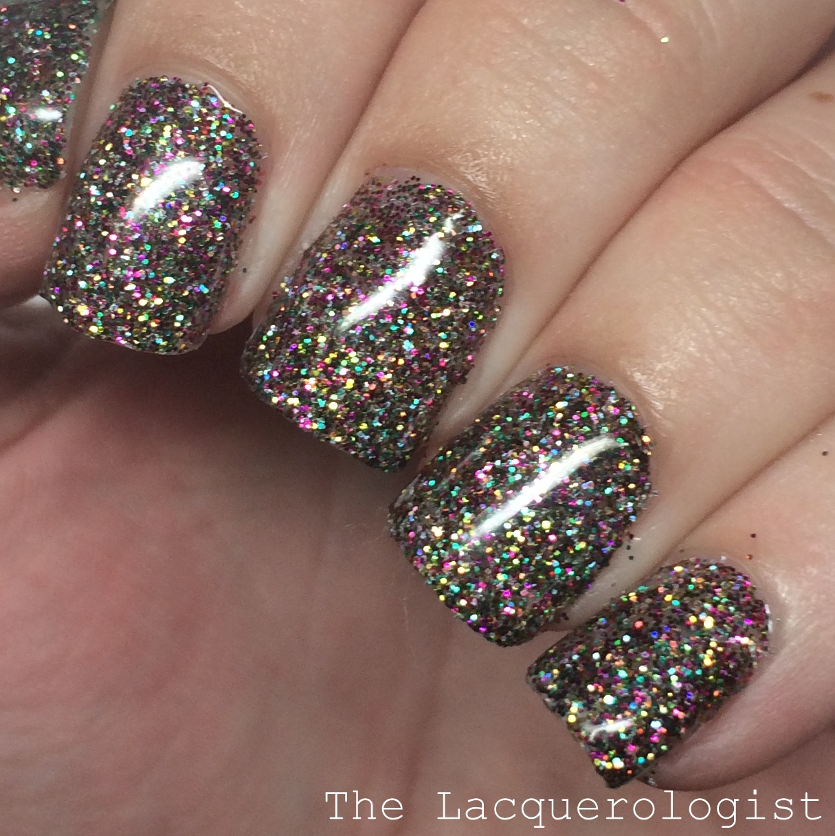 My Vacation Nails: CUSTOM Glitter Gels • Casual Contrast