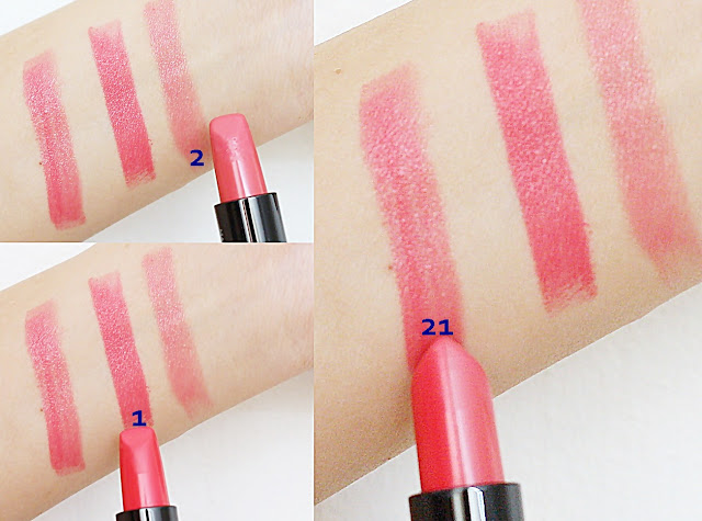 a photo of Shiseido Maquillage Dual Color Rouge in Cherry Pink (21)