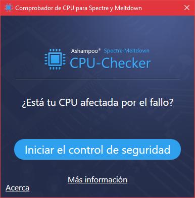 Ashampoo Spectre Meltdown CPU Checker 1.1.2 | Descubre en segundos si tu PC es vulnerable a Spectre y Meltdown