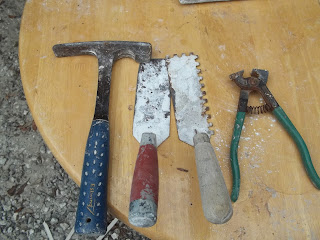 Tile Tools: Stone Chipping Hammer, Margin Trowl,Tile Nippers