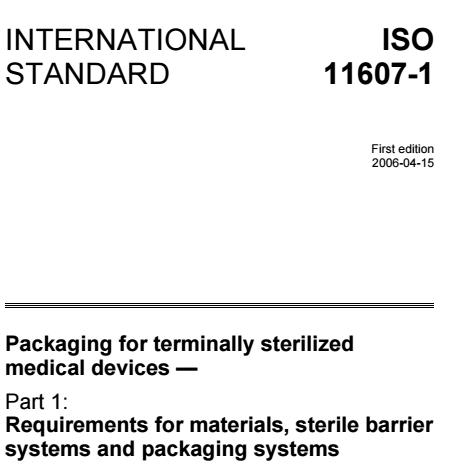 Tiêu chuẩn ISO 11607-1:2006