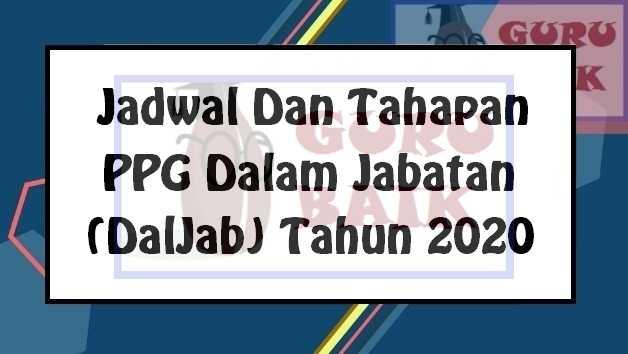 gambar jadwal PPG Daljab 2020