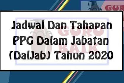 Catat!! Berikut Jadwal Dan Tahapan PPG Daljab 2020