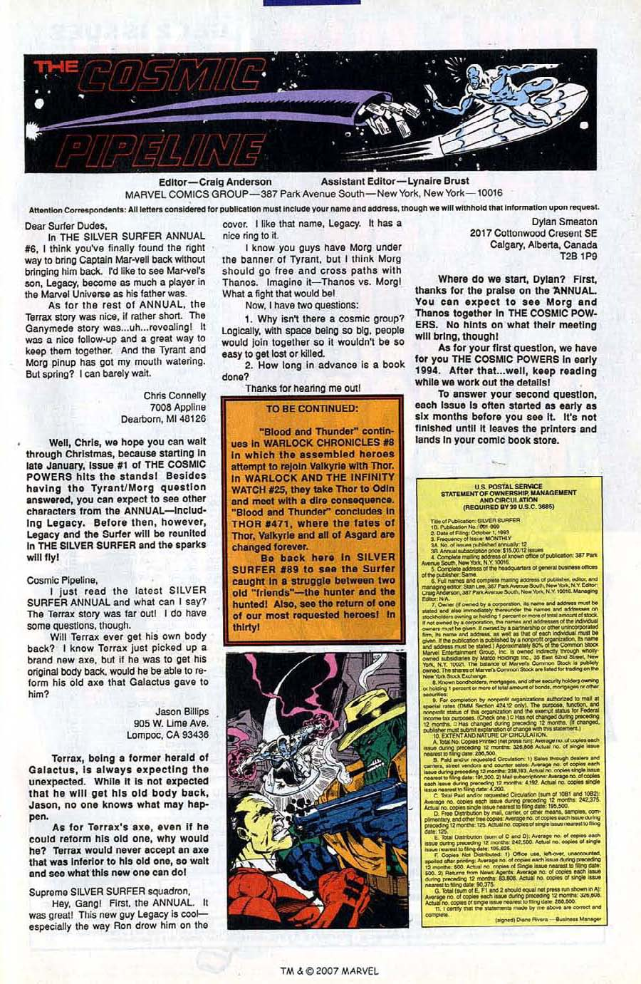 Read online Silver Surfer (1987) comic -  Issue #88 - 49