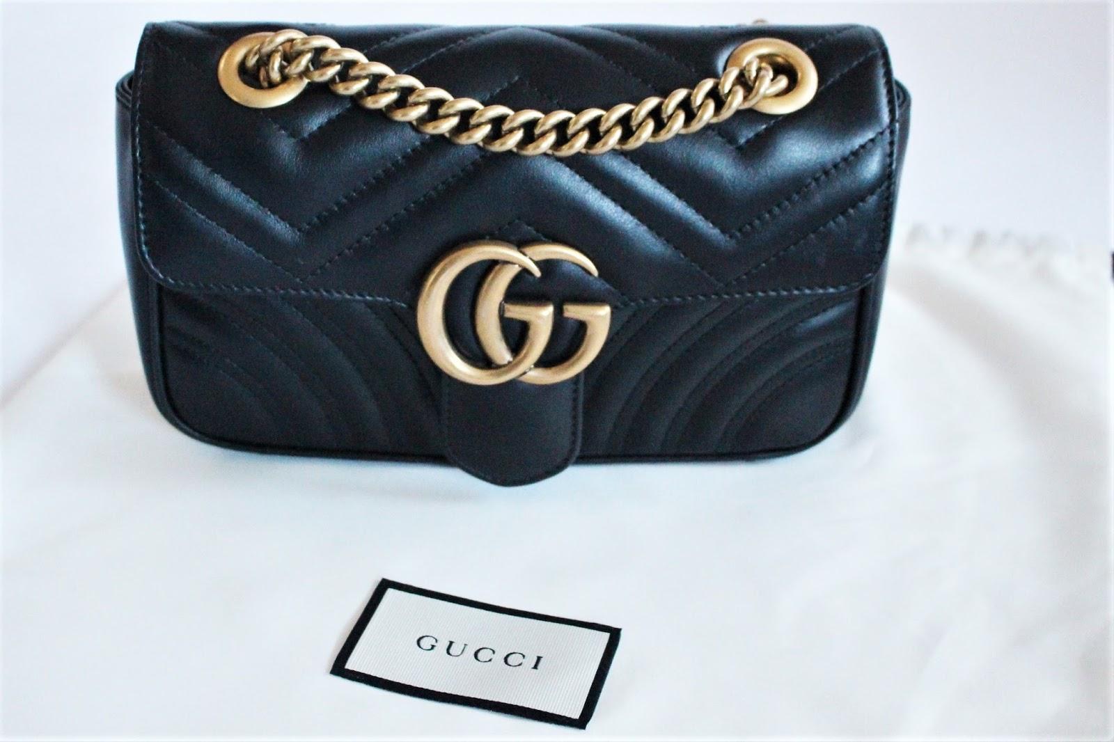 NEW IN    Designer Bag   Gucci Marmont Mini in Black - Sinnamona e587e6a4669
