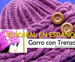 Tutorial de Gorro Crochet con Trenzas horizontales en relieve / Video en español
