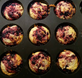 muffins with blackberry jam