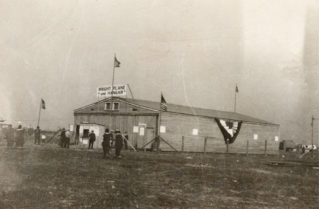Display of 1903 Wright Flyer during International Air Races, 1924