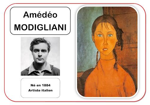 Amédéo Modigliani - Portrait d'artiste en maternelle