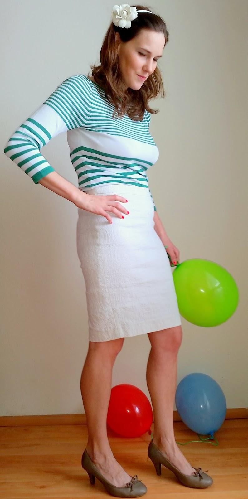 1e9ae858e0d3 V bielo- zelenej kombinácii sa budete cítiť žensky