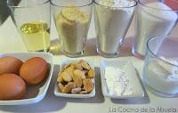 Bizcocho yogur almendra Receta ingredientes