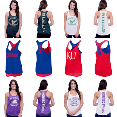 college team reversible women's tank top