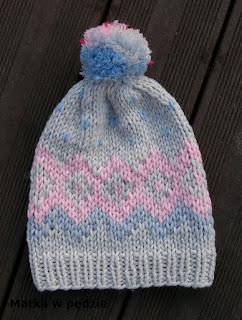 czapka na drutach wzór