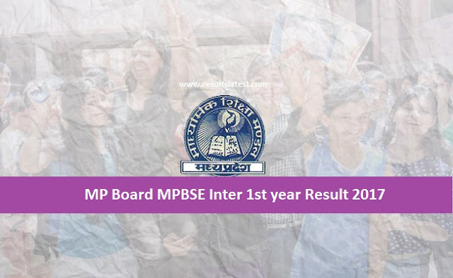 MPBSE Inter 1st year Result