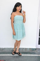 Sahana New cute Telugu Actress in Sky Blue Small Sleeveless Dress ~  Exclusive Galleries 013.jpg