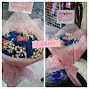 Handbouquet Mawar Biru mix Pink
