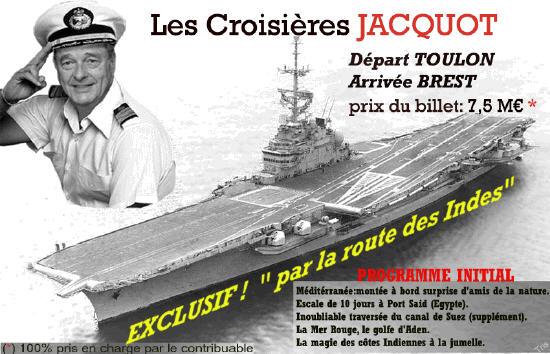 affiche humoristique Chirac croisières Jacquot