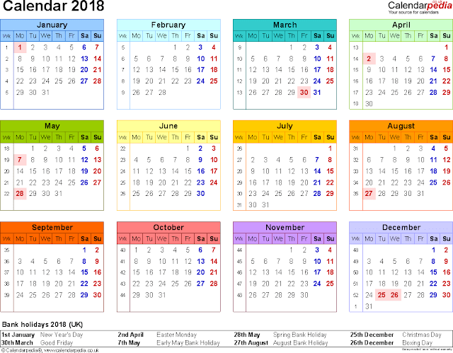 2018 Blank Printable Calendar, 2018 Calendar Printable, 2018 Printable Monthly Calendar, Blank Calendar Printable 2018, Blank Printable Calendar 2018, Printable Monthly Calendar 2018