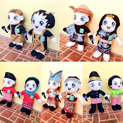 Boneka Custom Adat Nusantara