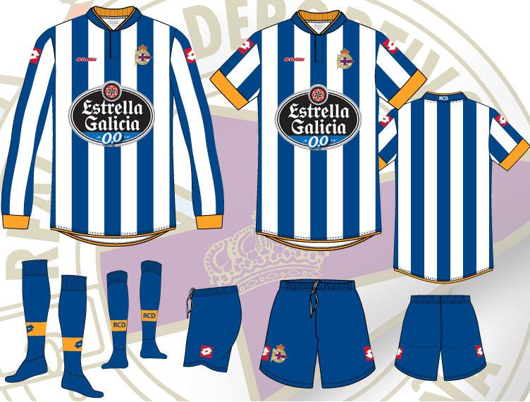 Deportivo La Coruña 13/14 Home, Away & Third Kits Released -