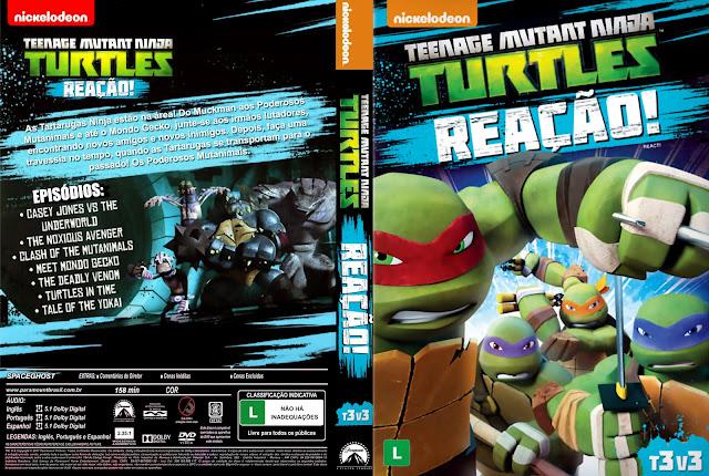 Capa DVD Teenage Mutant Ninja Turtles Reação