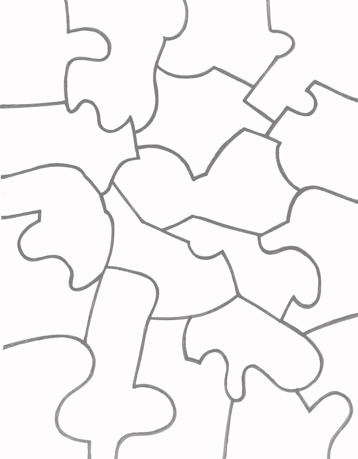 Puzzle Template. colorir e pintar desenho feito a lápis. jigsaw ...