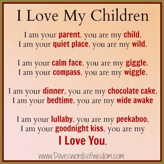 i love my children poems -#main