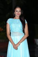 Pujita Ponnada in transparent sky blue dress at Darshakudu pre release ~  Exclusive Celebrities Galleries 116.JPG
