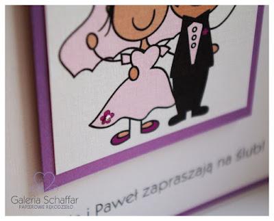 indywidualny projekt zaproszeń ślubnych zamówienie