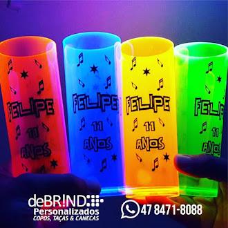 copos long drink neon atacado