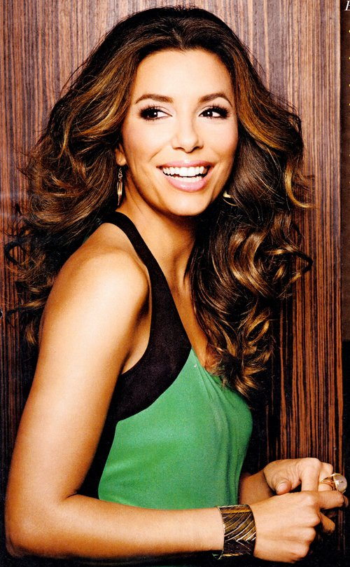 Eva Longoria poses on the cover of Health, January/February 2012