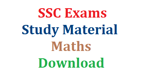 SSC Study Material Mathematics-Download | 10th Public Examinations Study Material for Mathematics Useful to Students | Mathematics Bit Bank for SSC March Public Examinations | Question Bank for 10th Students | ssc-study-material-mathematics-download
