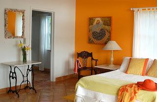 diseño dormitorio naranja