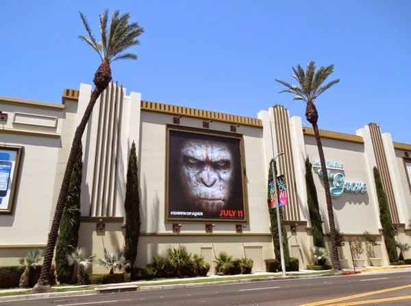 Dawn of the Planet of the Apes chimp face billboard