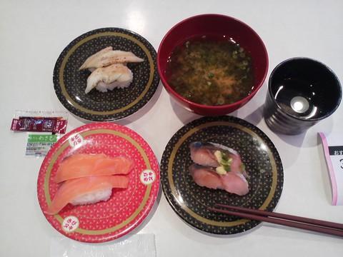 寿司3皿1 はま寿司 札幌桑園店
